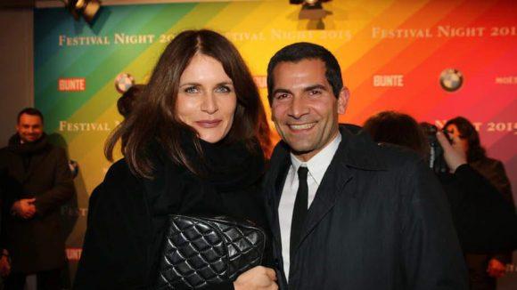 Der Mann aus dem ZDF-Morgenmagazin Mitri Sirin an der Seite von Ehefrau Friederike.