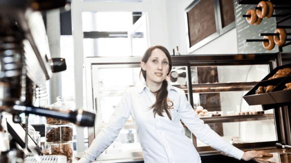 Diana Reizmans ganzer Stolz: Ihr neues Café Elfenbein auf der Kastanienallee.