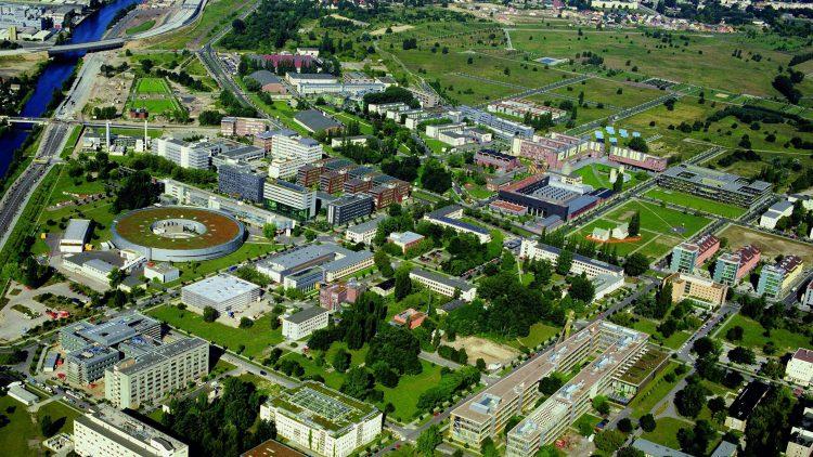 Gute Infrastruktur und viel Grün: Der Campus Adlershof.