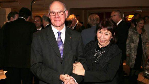 Bisher selten zusammen in Berlin gesehen: Bundestagspräsident Dr. Norbert Lammert und Frau Gertrud.