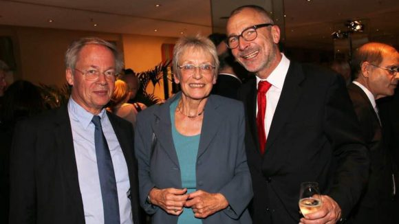Weitere Gäste waren Architekt Stephan Braunfels (l.) und die Grünen-Politiker Franziska Eichstaedt-Bohlig und Volker Beck.