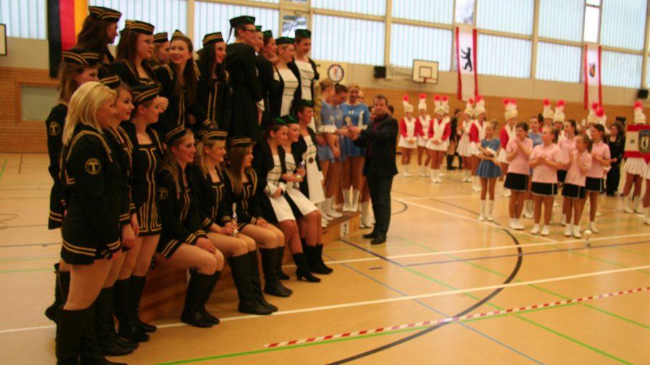 Preisverleihung bei der Deutschen Meisterschaft der Majoretten und Cheerleader in Reinickendorf.