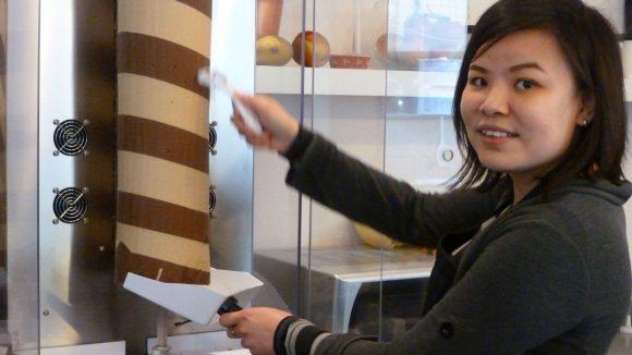Quynh Trang Le hat den Schoko-Döner nach Berlin gebracht.