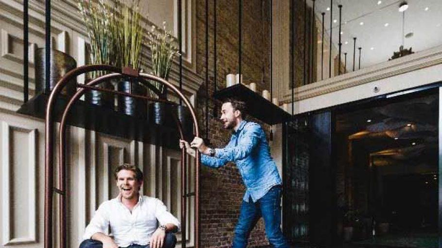 Maximilian Waldmann und Frederic Haitz (v.l.) haben sich die Hotel-App Conichi ausgedacht.