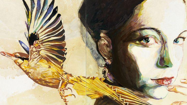 Das Bild mit dem Namen Eisvögelin von Cornelia Schleime ist gerade in der Berlinischen Galerie zu sehen.