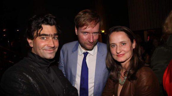 Gruppenbild mit Dame: Kulturstaatssekretär Tim Renner, Unternehmer Jochen Sandig und Choreografin Sasha Waltz (v.l.).