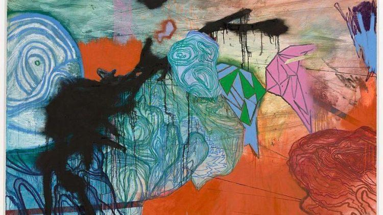 """Daniel Richter: """"Zweifel an der Monokausalität"""", 2013 - oil on canvas"""