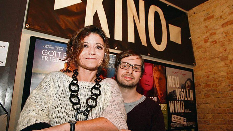 "Off-Kino im Reuterkiez: Daniel Wuschansky und Carla Molino betreiben das ""Il Kino""."