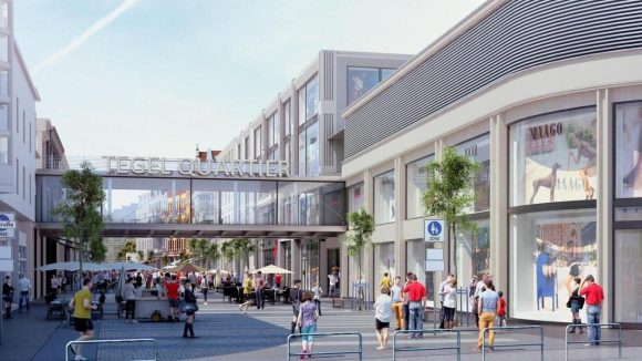 Neues in Alt-Tegel. Das geplante Einkaufszentrum in der Fußgängerzone an der Gorkistraße.