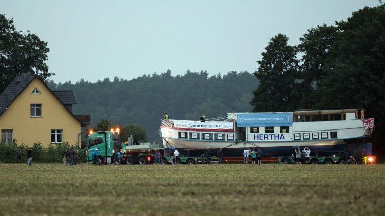 """Die """"Hertha"""" hat eine lange, anstrengende Reise hinter sich."""