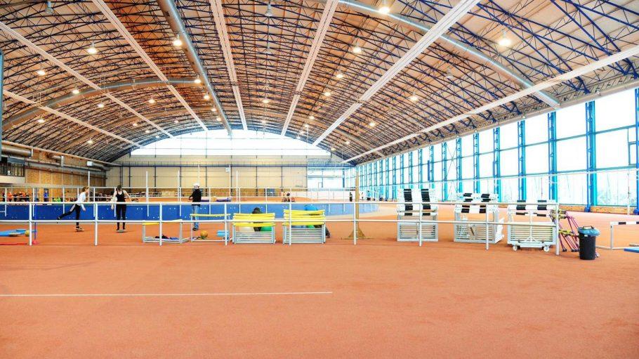 Das Sportforum Berlin in Hohenschönhausen, aufgenommen am 30. Januar 2013, Olympia- und Bundesstützpunkt sowie Eliteschule des Sports.
