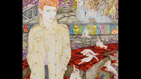 Abetz & Drescher: David Bowie, 2013. Acryl auf Leinwand.