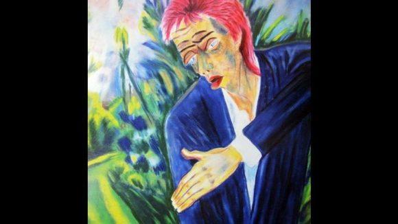 Ein Zitat von Snapple zu Erich Heckels Bild 'Ernst-Ludwig Kirchner' : Ziggy Kirchner, Pastell auf Velourpapier.