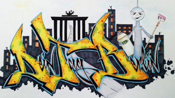 Bald kannst du deine eigene Werbefläche mit Graffiti gestalten.