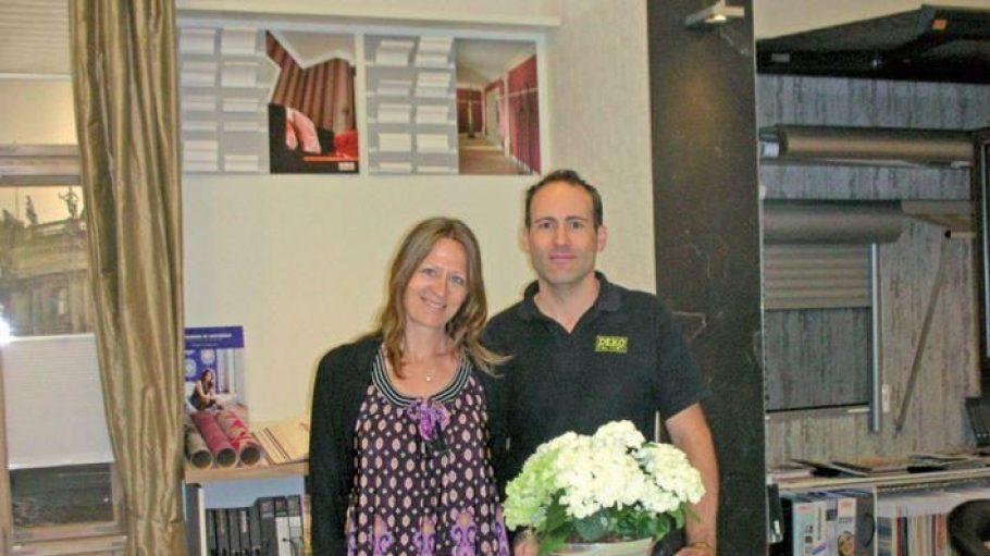 Kristina und Ben Schweizer, Inhaber der Deko Factory in Friedenau.