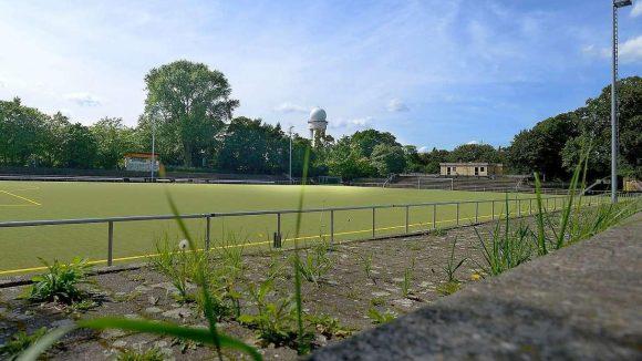 Der Fußballplatz des Vereins Berliner Amateure, früher Tempelhof, jetzt Kreuzberg.