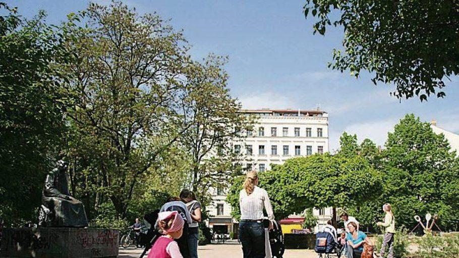 Der Kollwitzplatz in Berlin-Prenzlauer Berg war einst Zentrum jüdischen Lebens.