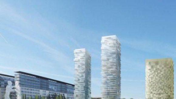 Kein Witz: Der Siegerentwurf zu den Neubauten an der Spree in Alt-Treptow
