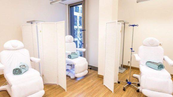 Die Tagesklinik: Hier findet unter anderem ambulante Chemo- und Immuntherapie statt.