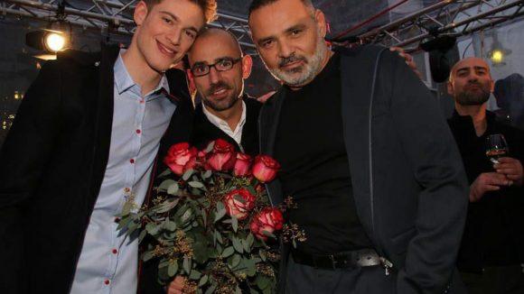 Und zu guter Letzt bewies Designer Ben Weide (Mitte) bei seiner Show auf einem Firmengelände in der Greifswalder Straße ...