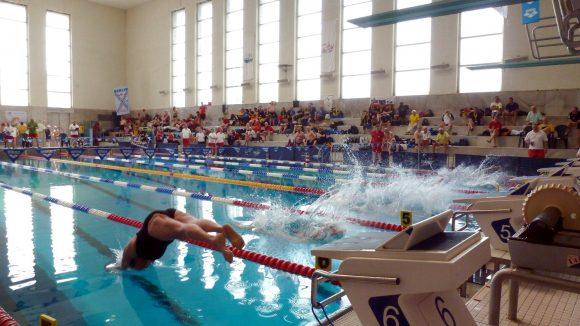 Und los geht's: Alle Disziplinen sind der Rettung nachempfunden, das heißt anschwimmen, runtertauchen...