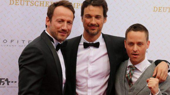 Drei starke Jungs: die Schauspieler Wotan Wilke Möhring, Florian David Fitz und Tom Schilling (v.l.).