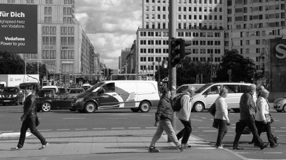 Blick vom Potsdamer Platz Richtung Leipziger Platz, 2013.