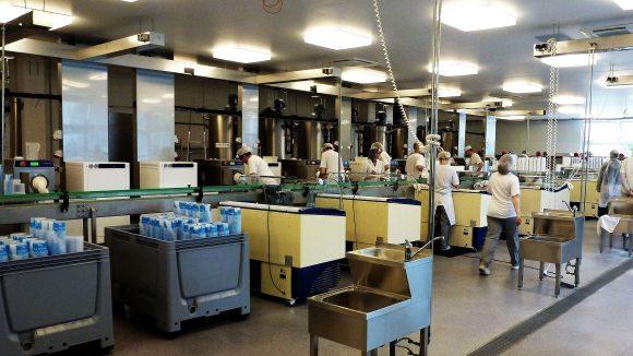 Ein Blick in die Produktionshallen von Florida Eis.