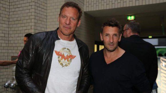 Zwei kernige Action-Stars im Base-Camp: Ralf Moeller (l.) und Mark Keller.