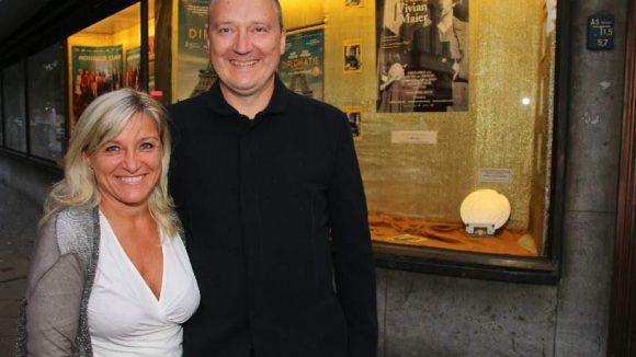 """Last but not least: Drehbuchautor Thomas Brussig (""""Sonnenallee"""") mit seiner Freundin Kathrin Thienel."""