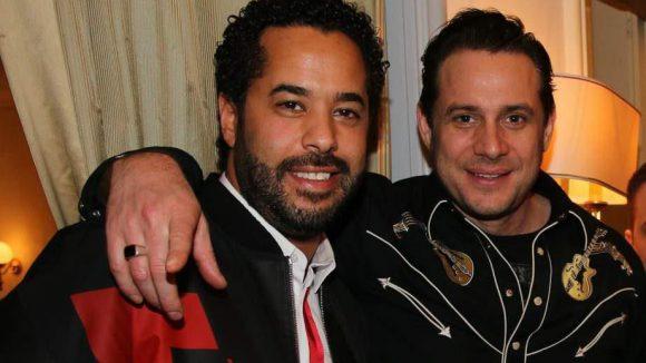... Adel Tawil und Hoss Power von Boss Hoss (rechts) ...
