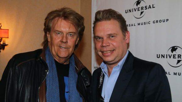 ... Howard Carpendale und Tom Bohne von Universal ...