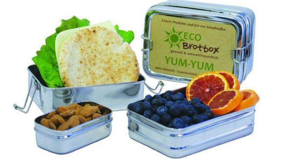 Hier sieht man ein paar der Produkte von ECO Brotbox.