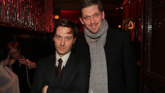 """Mitfeiern wollte das """"Dream Team"""" Tom Schilling (links) und Jan-Ole Gerster von """"Oh Boy"""" ..."""