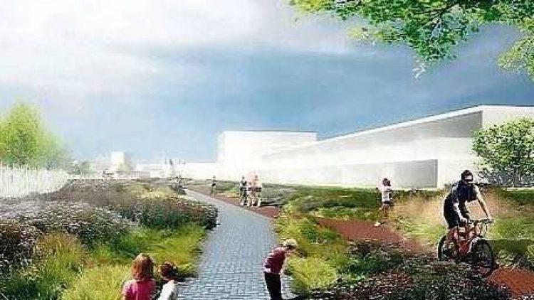 Ein Massemodell zeigt Teile der geplanten Wohnbebauung der Parks Range.