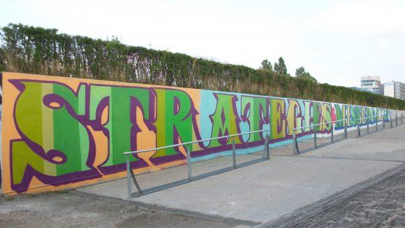 Das fertige Graffiti.