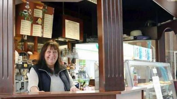 Schon heute ein Treffpunkt in der Eisenbahn-Markthalle: Die Café-Bar von Inge Wruck