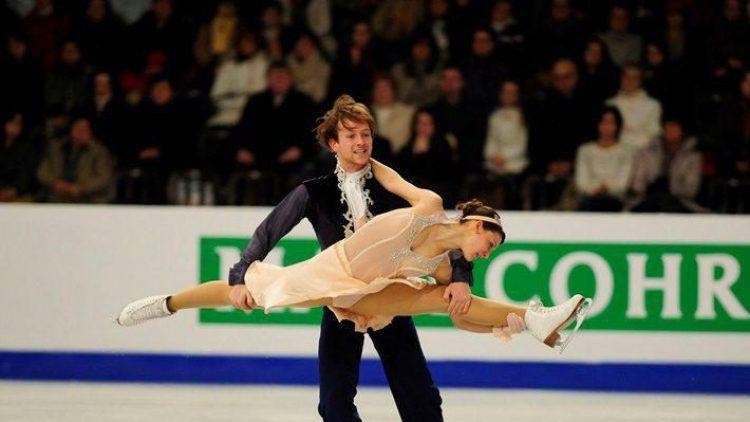 Zwei unserer zwölf Olympioniken: Die Eiskunstläufer Tanja Kolbe und Stefano Caruso.