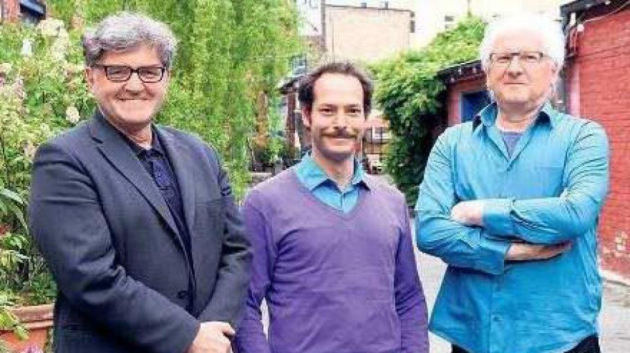 Das Leitungstrio des Theaters, Bernd Hoffmeister, Daniel Brunet und Günther Grosser (v.l.)