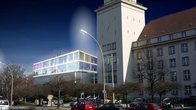 So könnte sie aussehen, die neue Bibliothek am Rathaus Tempelhof.
