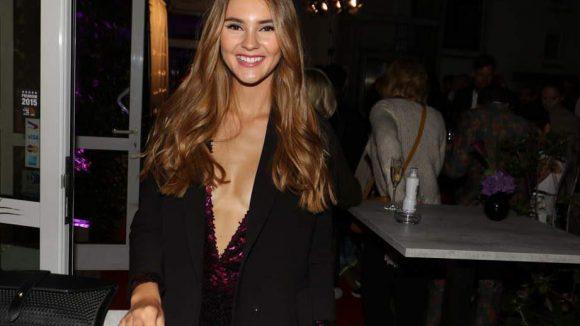 """Als Gäste schauten Model Stefanie Giesinger (Siegerin von """"GNTM"""" 2014) ..."""