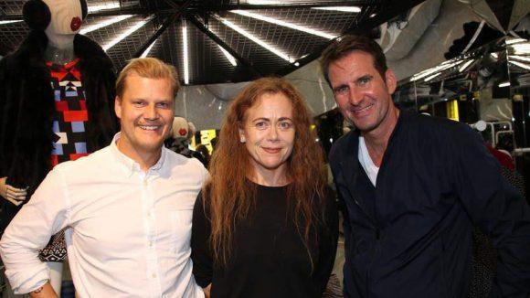 Und hier noch einige führende Köpfe des H&M-Ablegers: Verkaufsleiter Erik Larsson mit Ley Rytz-Goldman und Projektleiter Michael Kleu.