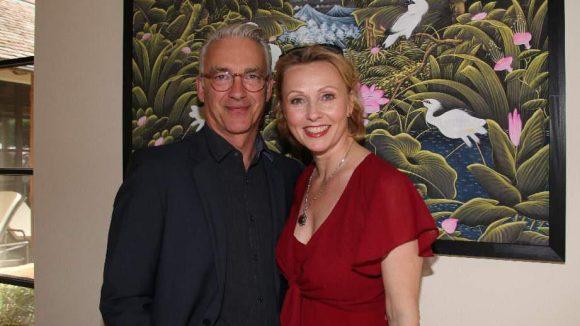 Zu den ersten Gästen der größten deutschen Wellness-Anlage gehörten die Schauspieler Dana Golombek und Christoph M. Ohrt ...
