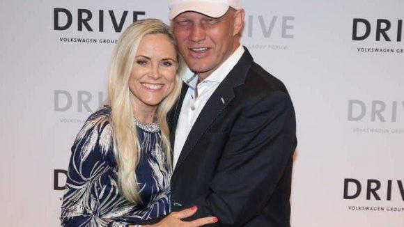 Und noch ein glückliches Paar: Axel Schulz mit seiner Frau Patricia.