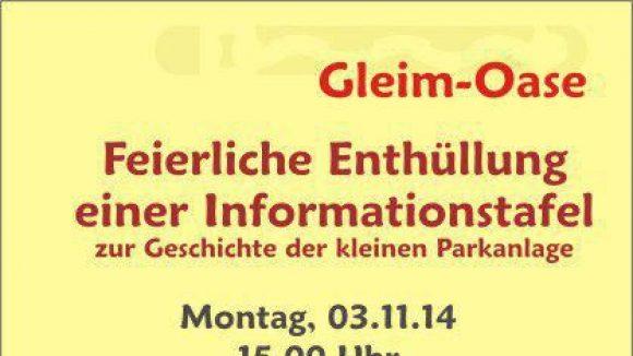 Erläuterungstafel Gleim-Oase.(c)Promo