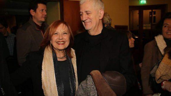 Schauspielkollegin Brigitte Grothum, wie Hallervorden 1935 in Dessau geboren, hielt die Laudatio. Neben ihr: TV-Ikone Ilja Richter.