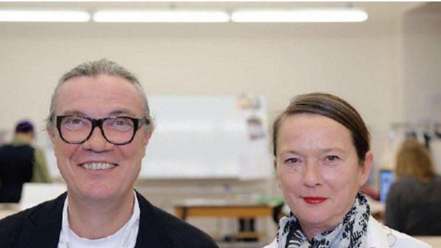 Silvia Kadolsky (rechts) gründete vor 20 Jahren die ESMOD Berlin. Neben ihr Klaus Metz, mit dem sie die Internationale Kunsthochschule für Mode gemeinsam leitet.