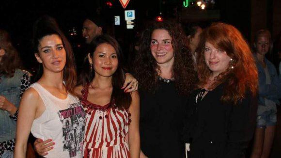 Die Designerinnen, die den Catwalk Under The Stars präsentierten: Noa Guez, Anna Tran, Alena Jahnke und Emillia Ballotta (v.l.n.r.).