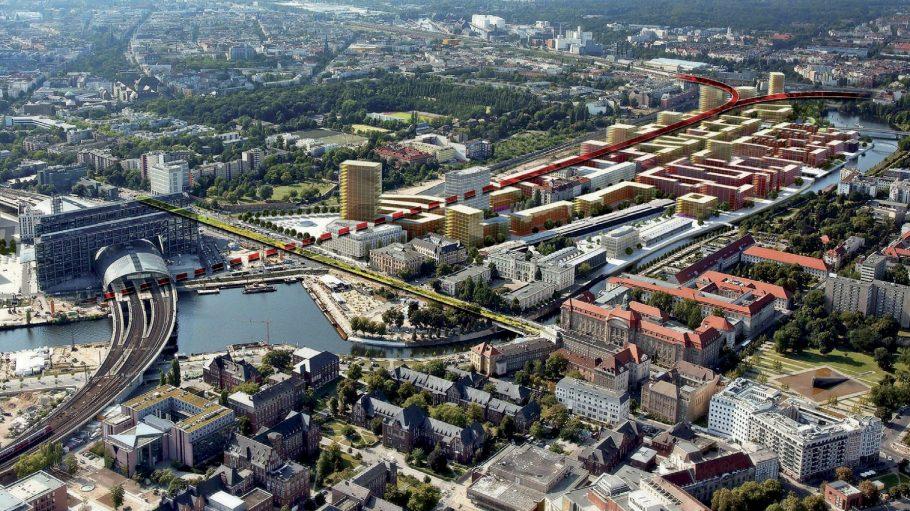 """Der neue Kiez """"Europa-City"""" entsteht nördlich des Hauptbahnhofs."""
