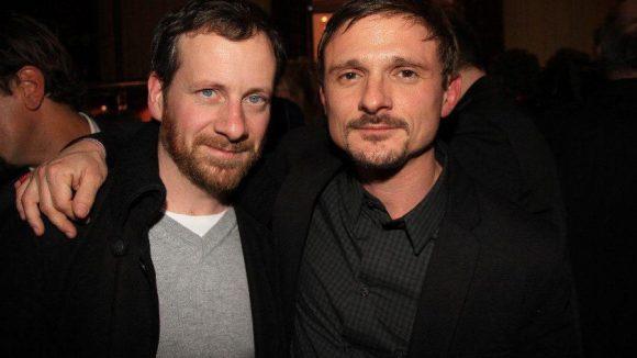 Die Schauspieler Fabian Busch (links) und Florian Lukas.